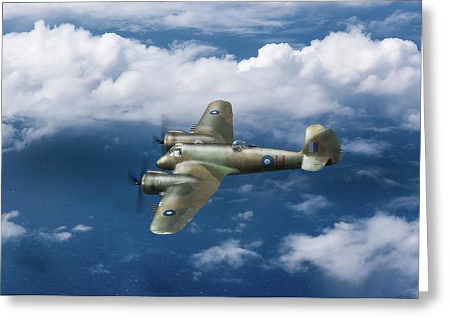 Greeting Card featuring the photograph Seac Beaufighter by Gary Eason