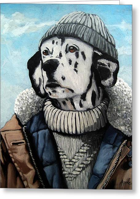 Seadog - Dalmation Animal Art Greeting Card