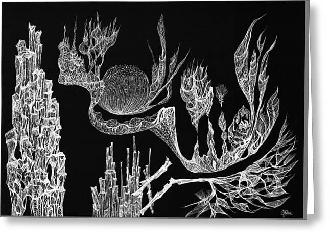 Seadragon Dreams Greeting Card by Charles Cater