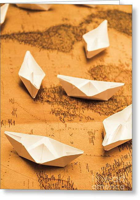 Seafaring The Seven Seas Greeting Card