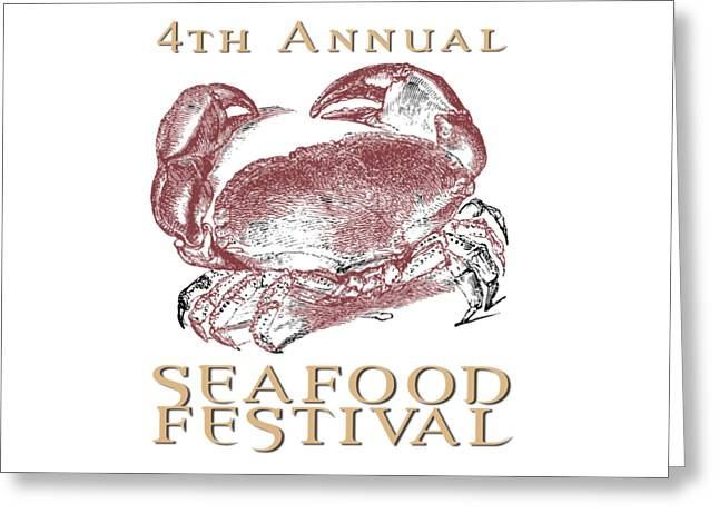 Seafood Festival Tee Greeting Card by Edward Fielding
