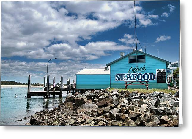 Seafood On The River  Greeting Card by Kaye Menner