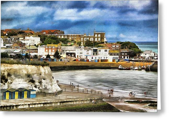 Seafront Broadstairs Kent Greeting Card