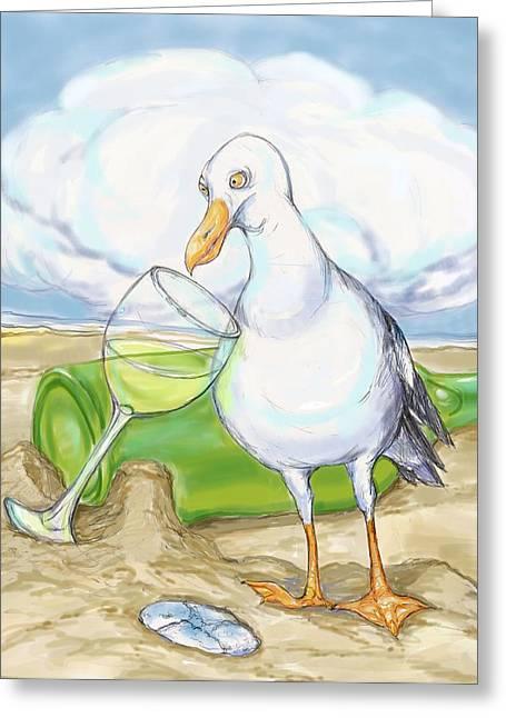 Seagull  Chardonnay Greeting Card