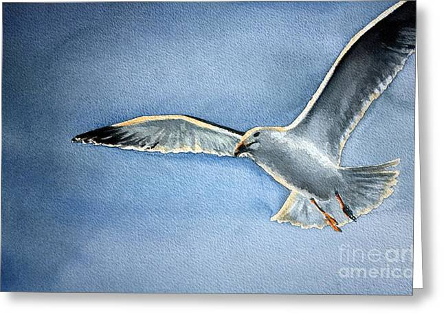Seagull Greeting Card by Eleonora Perlic