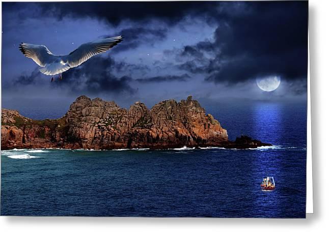 Seagull Flight Greeting Card by Jaroslaw Grudzinski