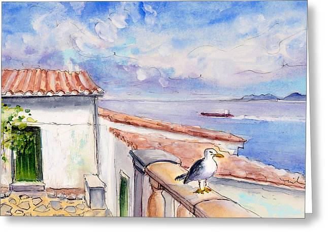 Seagull In Cap De Formentor Greeting Card by Miki De Goodaboom