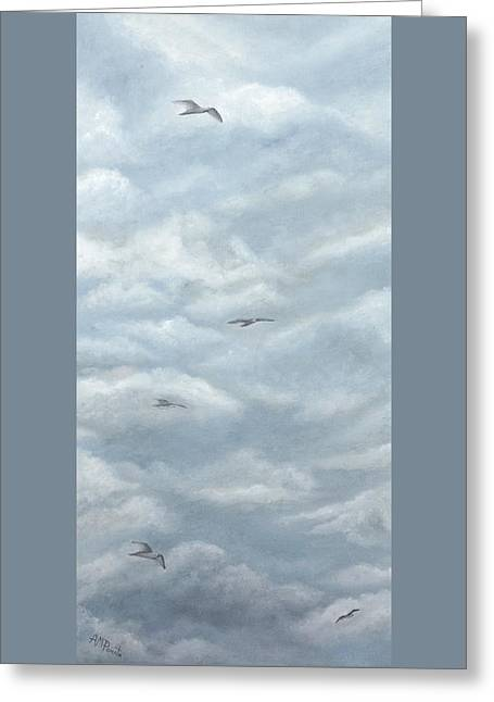 Seagulls Playground Greeting Card