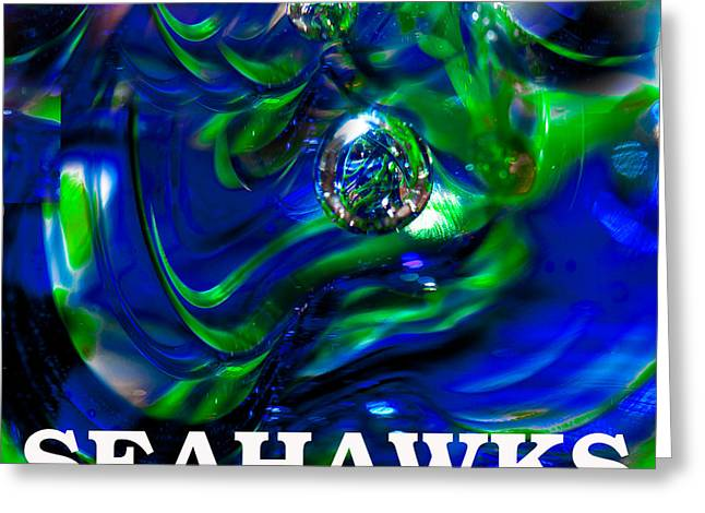 Seahawks 3 Greeting Card by David Patterson
