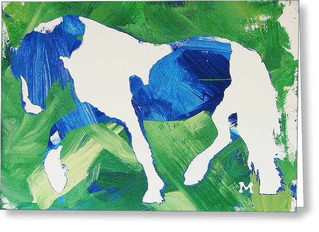 Seahawks Horse Greeting Card