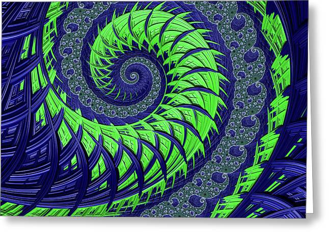Seahawks Spiral Greeting Card