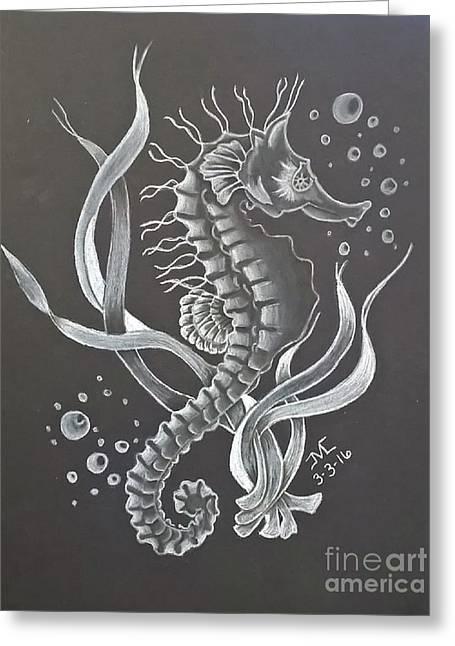 Seahorse Greeting Card