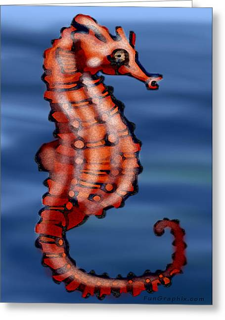 Seahorse Greeting Card by Kevin Middleton