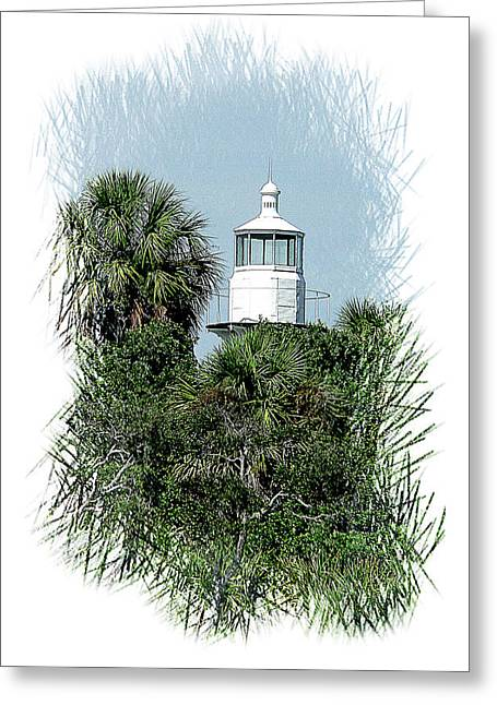 Seahorse Key Light Greeting Card by Gordon Engebretson