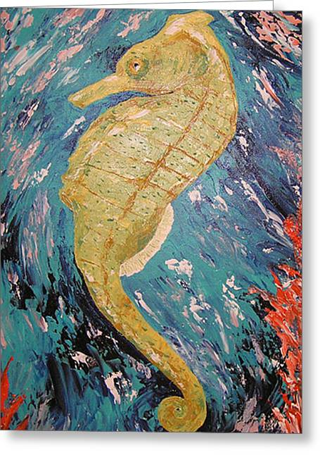 Seahorse Number 2 Greeting Card by Ricklene Wren