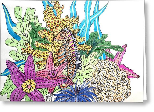 Seahorse Sanctuary  Greeting Card