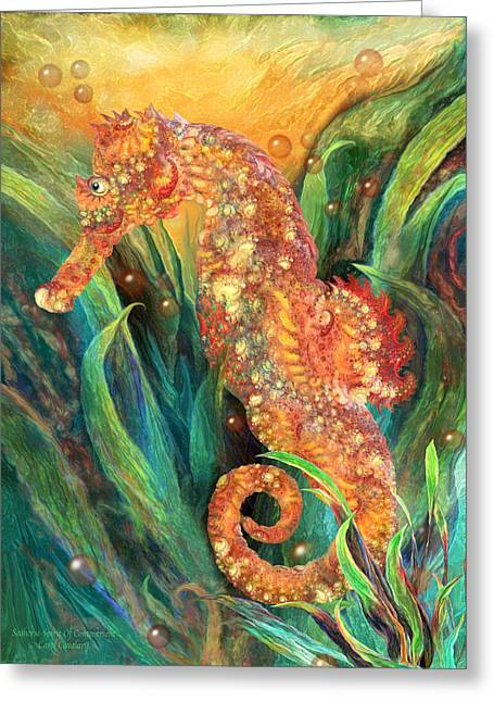 Seahorse - Spirit Of Contentment Greeting Card