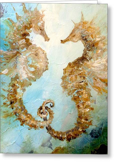 Seahorses In Love 2016 Greeting Card