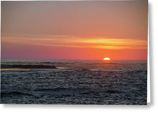 Seaisle Sunrise - Townsends Inlet Greeting Card by Bill Cannon