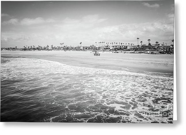 Seal Beach California Black And White Photo Greeting Card