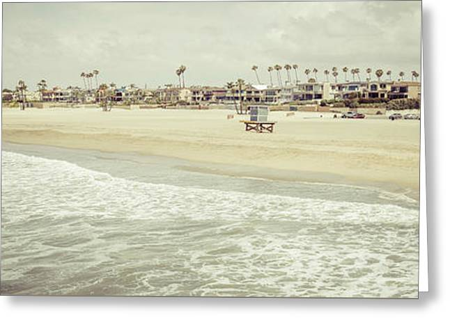Seal Beach California Coastline Panorama Photo Greeting Card