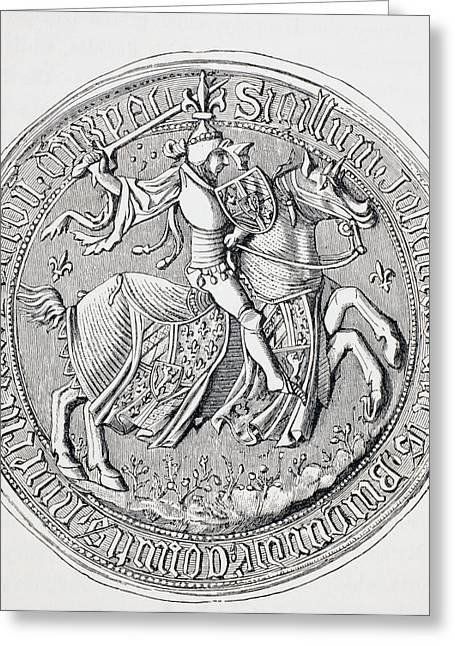 Seal Of Jean II, Duke Of Burgundy Greeting Card by Vintage Design Pics