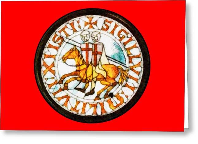 Seal Of The Knights Templar Greeting Card by John Springfield