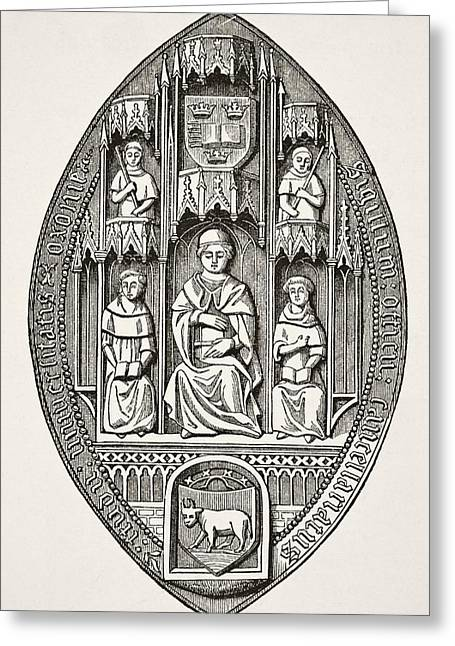 Seal Of The University Of Oxford From Greeting Card