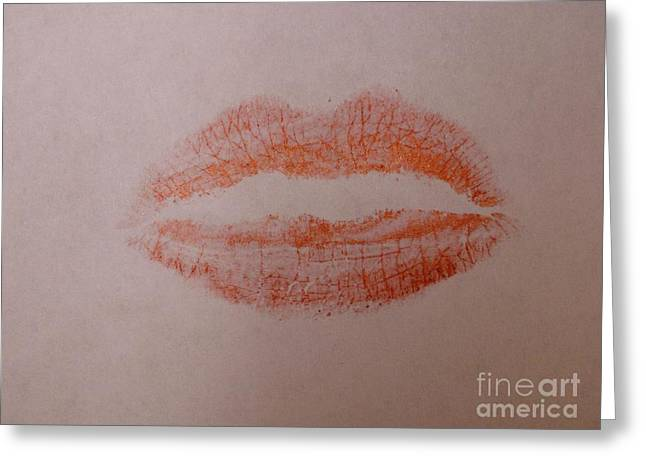 Sealed With A Red Kiss Greeting Card
