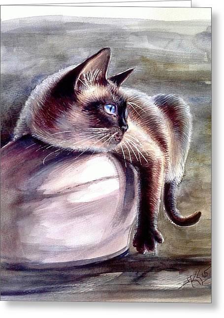 Siamese Cat 2 Greeting Card