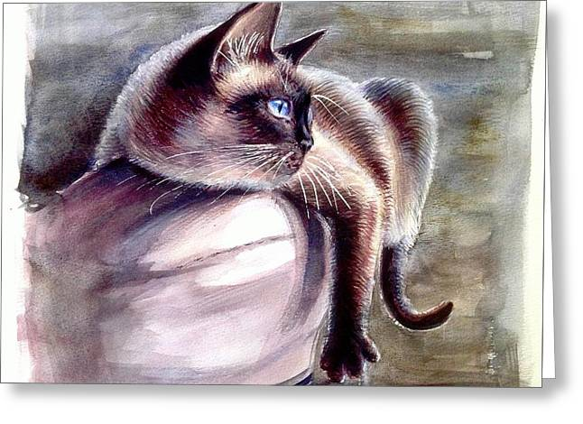Siamese Cat 2 Greeting Card
