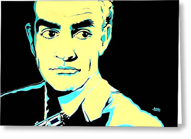 Sean Connery 007 James Bond Greeting Card by Margaret Juul