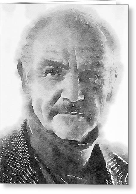 Sean Connery By John Springfield Greeting Card by John Springfield
