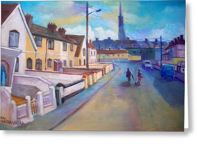 Sean Hueston Place Limerick Ireland Greeting Card