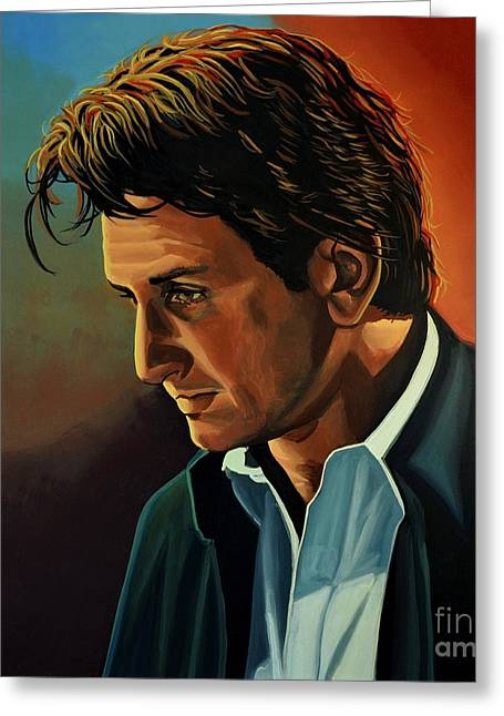 Sean Penn Greeting Card by Paul Meijering