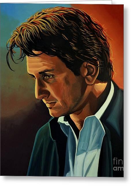 Sean Penn Greeting Card by Paul Meijering