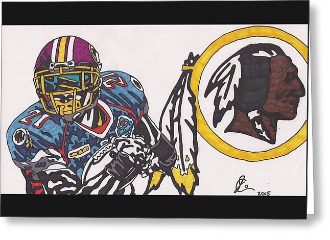 Sean Taylor Greeting Card by Jeremiah Colley