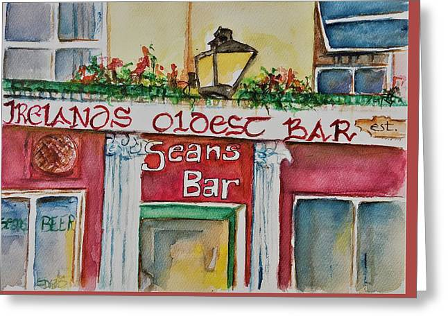 Seans Irish Pub Greeting Card