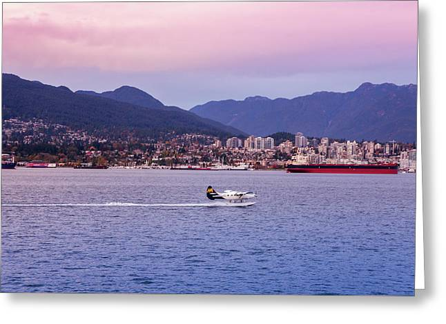 Seaplane On Vancouver Island Greeting Card by Art Spectrum