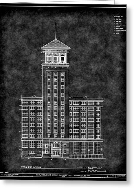 Sears Roebuck And Co Tower Blueprint Greeting Card