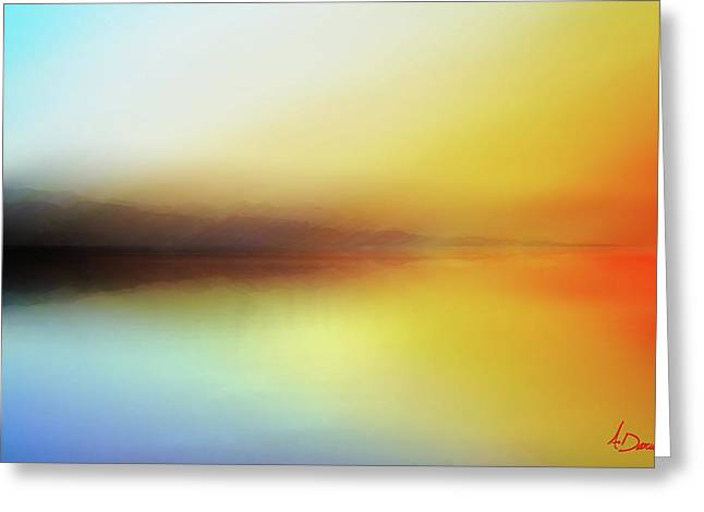 Seascape Greeting Card by Ahmed Darwish