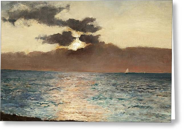 Seascape Greeting Card by Alfred Emile Stevens