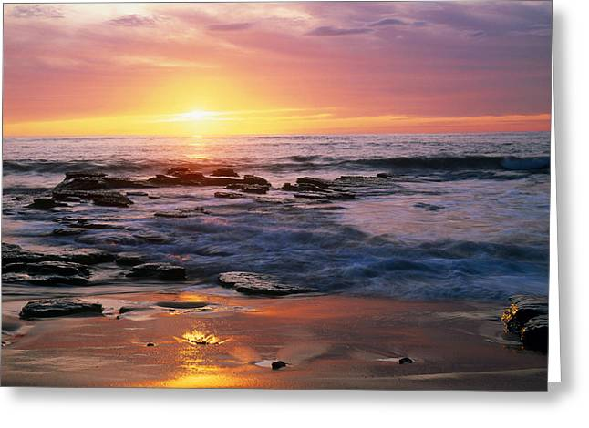 Seascape Ca Usa Greeting Card by Panoramic Images
