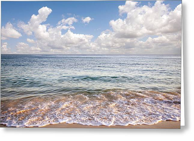 Beach White Greeting Cards - Seascape Greeting Card by Carlos Caetano