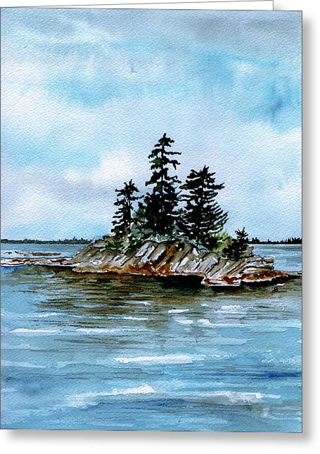 Seascape Casco Bay Maine Greeting Card