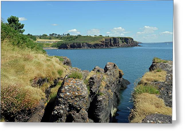 Seascape Dunmore East. Greeting Card