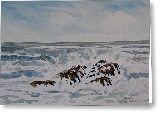 Seascape Ester Lee Greeting Card by Lynne Haines