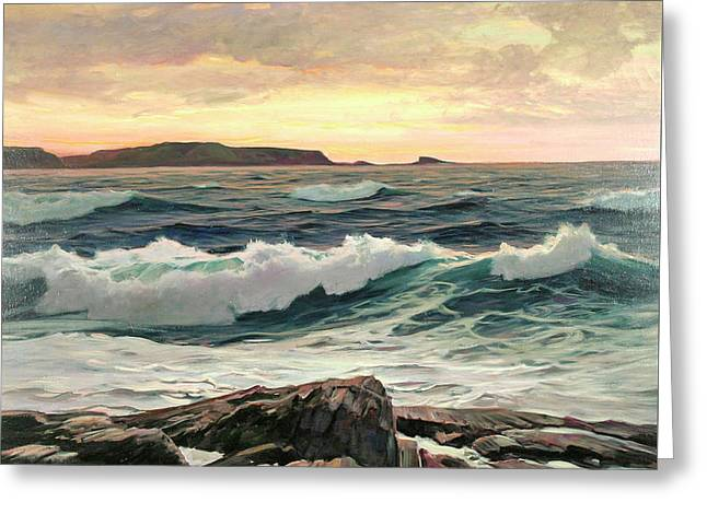Seascape Greeting Card by Frederick Judd