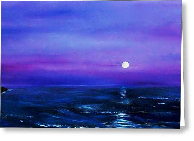 Seascape II Greeting Card by Tony Rodriguez