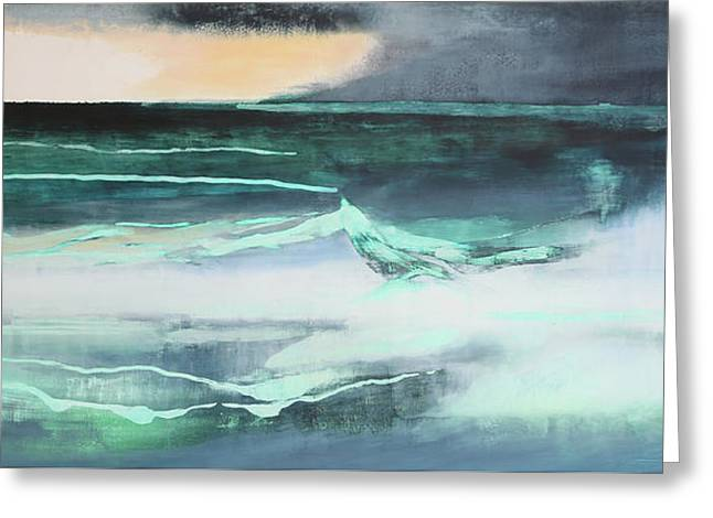 Seascape Greeting Card by Lou Gibbs